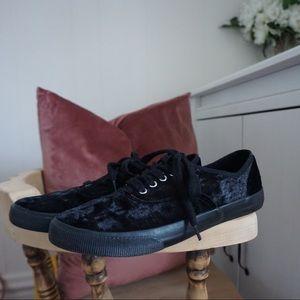 Black Velvet Sneakers